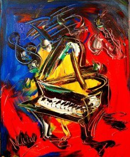PIANO Modern Abstract  Wall Decor  Original OIL Direct From Studio   Mark Kazav Art Impressionist   Oil Paintings