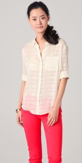 Madewell Charlotte Textured Boy Silk Shirt