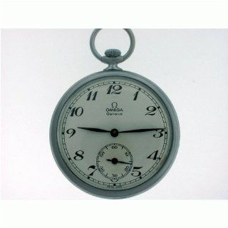 Vintage/Antique watch: Pre Owned Omega Geneve Pocket Watch Stainless Steel White Enamel Dial 1940's at  Men's Watch store.