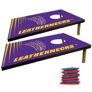 Western Illinois University Corn Hole Bag Toss Game (Design 3) : Sports Fan Games : Sports & Outdoors