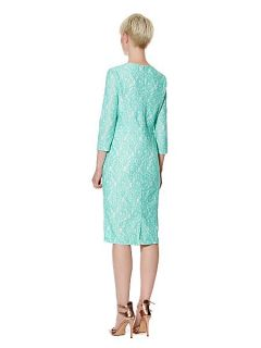 Pied a Terre Amy Lace Shift Dress 3/4 Sleeve Mint
