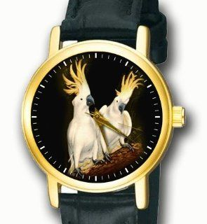 Beautiful Sulphur Crested Cockatoo Parrot Collectible Wrist Watch: Watches