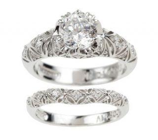 Tacori IV Diamonique Epiphany Bloom Cut Ring Set —