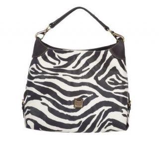 Dooney & Bourke Medium Zebra Print Sac Bag —