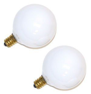 Westinghouse Lighting Globe Shaped G 161/2 40W White Cd/2 model number 03754 WHL   Incandescent Bulbs
