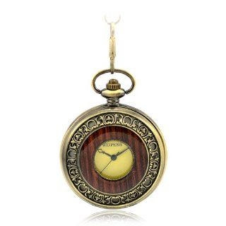 CredDeal Steampunk Pocket Watch Roman Number Half Hunter   Antiqued Brass Tone Pw038 With Gift Box at  Men's Watch store.