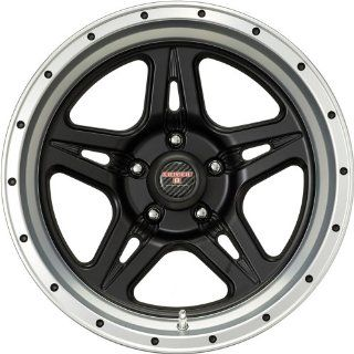 Level 8 Strike 5 18 Black Machined Wheel / Rim 5x150 with a 12mm Offset and a 112.2 Hub Bore. Partnumber 63451 Automotive