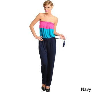Stanzino Colorblocked Strapless Jumpsuit Stanzino Rompers & Jumpsuits