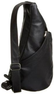 Healthy Back Bag HBB Anniversary Leather 53103, Unisex   Erwachsene Schultertaschen, Schwarz (black BK), 43x23x15 cm (B x H x T): Schuhe & Handtaschen