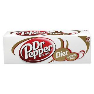 Dr. Pepper Diet Caffeine Free Soda 12 oz, 12 pk