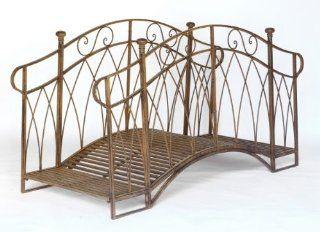 Br�cke Gartenbr�cke Teichbr�cke *Asolo* Antik Metall Garten Teich   B200cm: Küche & Haushalt