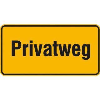 Privatweg Hinweisschild zur Grundbesitzkennzeichnung, Alu, Gr��e 33x17 cm: Baumarkt