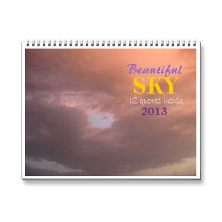 Beautiful SKY quotes Wall Calendars