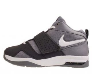 Nike Air Legacy 3 GS Grey White Black Velcro Youth Basketball Shoes 472677002 [US size 7]: Shoes