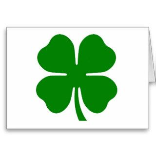 4 Leaf Clover St. Patrick's Day Greeting Card