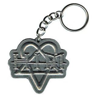 HIM   Heartogram / Heartagram Logo   Metal Keychain / Keyring / Key Ring / Key Chain: Clothing