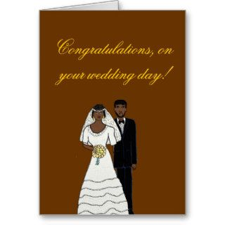 Your wedding day greeting cards