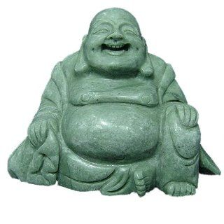 Shop Jade Happy Buddha Statue Asian Art Sculpture Home Decor at the  Home D�cor Store. Find the latest styles with the lowest prices from The Crabby Nook