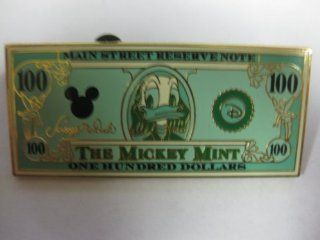 Disney Pin The Mickey Mint Donald Duck Hundred Dollar Bill: Toys & Games