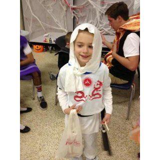 Haunted House Child's White Ninja Costume, Small: Clothing