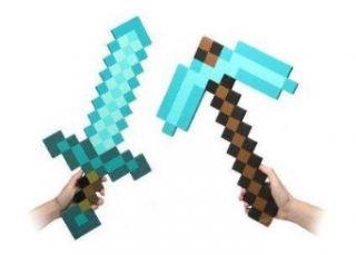 Minecraft Blue Diamond Sword & Pickaxe Set: Clothing