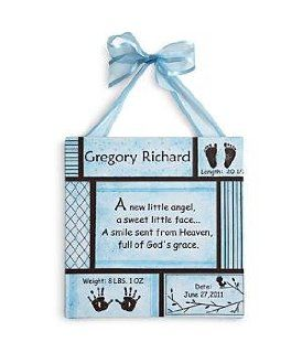 Shop Personalized Baby Information Art Canvas Wall Art   Blue   New Baby Gift at the  Home D�cor Store. Find the latest styles with the lowest prices from Personal Creations