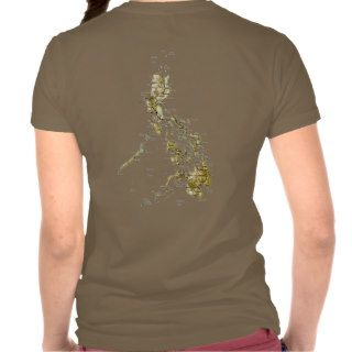 Philippines Flag and Map dk T Shirt Shirt