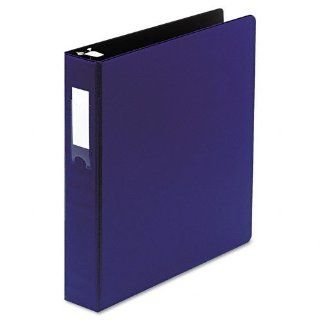"""Wilson Jones Products   Wilson Jones   Locking No Gap Round Ring Binder With Label Holder, 1 1/2"""" Capacity, Dark Blue   Sold As 1 Each   Popular No Gap round ring design keeps rings tightly closed without gaps.   Pocket Guards within covers hold paper"""