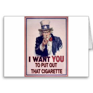funny no smoking sign greeting card