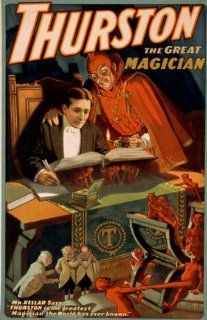 """Thurston Magic Great Magician the World Has Ever Known Red Devil 20"""" X 30"""" Image Size Vintage Poster Reproduction   Prints"""