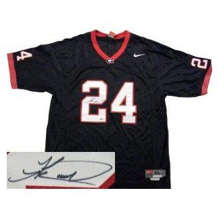 Knowshon Moreno Signed Georgia Bulldogs Nike Black Jersey: Sports Collectibles