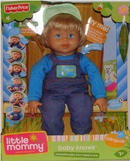 Fisher Price BOY Little Mommy Baby Knows Interactive Doll Toys & Games