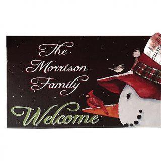"Personal Creations 17"" x 27"" Snowman Cardinal Doormat"