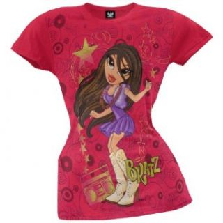 Bratz   Girls Cowboy Boots Girls T shirt Medium Pink: Clothing