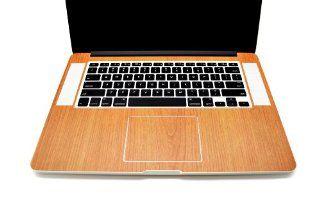 "iCarbons Light Wood Grain Vinyl Skin for MacBook Pro 15"" Retina Full Combo Computers & Accessories"