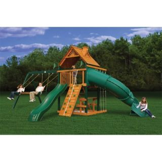 Gorilla Playsets Blue Ridge Mountaineer Wood Swing Set Outdoor Play