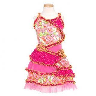 GiGi Baby Toddler Little Girls Pink Floral Ruffled Tiered Dress 12M 12 Gigi Baby