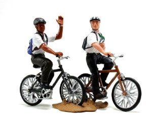 "LDS Plastic Missionaries on Bikes Figurine   3"" Tall   LDS Kids, LDS Children, LDS Christmas Gift, LDS Restoration: Toys & Games"