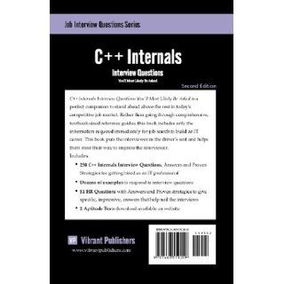 C++ Internals Interview Questions You'll Most Likely Be Asked (9781463519209) Vibrant Publishers Books