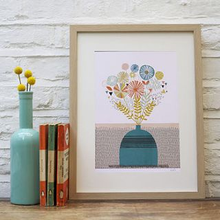 flora and fauna illustrated print by paper moon