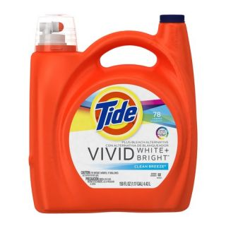 Tide Liquid Detergent Plus Bleach Alternative Color Safe Clean Breeze Scent 78 Uses 150 fl oz Laundry