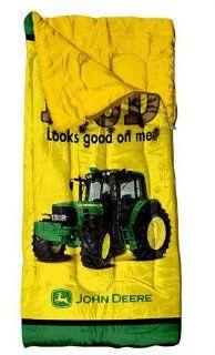 John Deere Youth Sleeping Bag, Mud Looks Good on Me   Throw Blankets