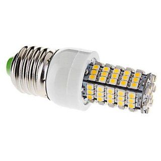 E27 5W 102x3528SMD 260 290LM 3000 3500K Warm White Light LED Corn Bulb (220V)   Led Household Light Bulbs