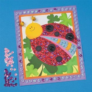 Sequin Bugs Pictures Craft Kit (makes 12): Toys & Games
