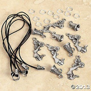 Cheerleader Cell Phone Charm Craft Kit   Pefect for Pre Teenagers! Each Kit Makes 6 Charms: Cell Phones & Accessories