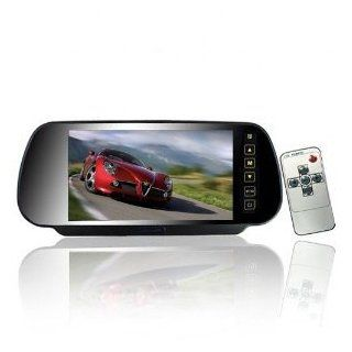 7 Inch 16:9 TFT LCD Widescreen Car Rearview Monitor Mirror with Touch Button, 480(W)x 234(H) Screen Resolution, Car /Automobile Rear View Mirror Display Monitor Support Two Ways Of Video Output, V1/V2 Selecting: Beleuchtung