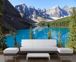 Fototapete Moraine Lake Kanada KT237 Gr��e 420x270cm Tapete See Blau Natur Küche & Haushalt