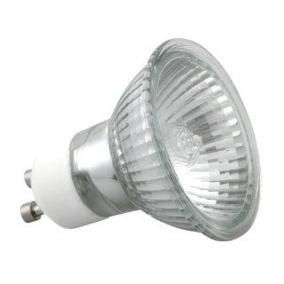 10er Set GU10 50 Watt Halogen Leuchtmittel   230 Volt   ALU Reflektor: Beleuchtung