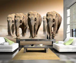 Fototapete Elefantengruppe Afrika KT245 Gr��e 420x270cm Tapete Kenia Tansania Elefant Küche & Haushalt