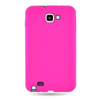 Wireless Central Brand Silicone Pink Gel Skin Sleeve Rubber Soft Cover Case for Samsung I717 Galaxy Note LTE   AT&T   WCF1072: Cell Phones & Accessories